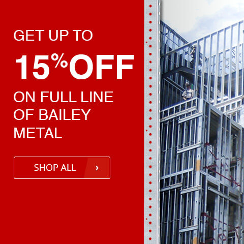 get up to 15% off on full line of bailey metal