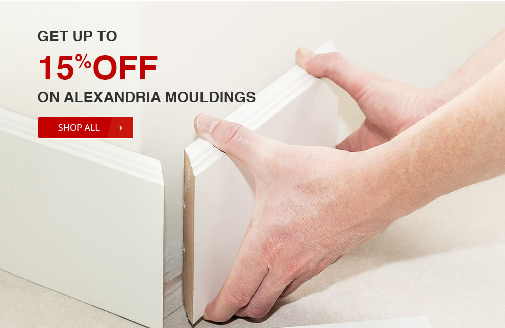 get up to 15% off on selected ALEXANDRIA moulding