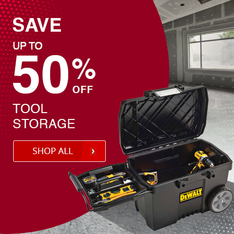 Save up to 50% off on tool storage