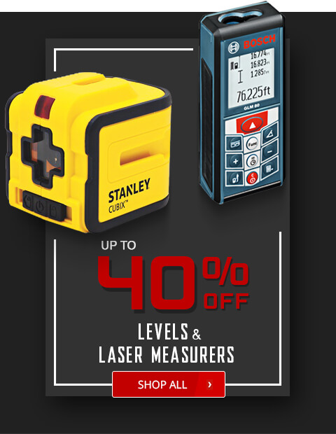 Black Friday Deals - Levels and Laser Measurers