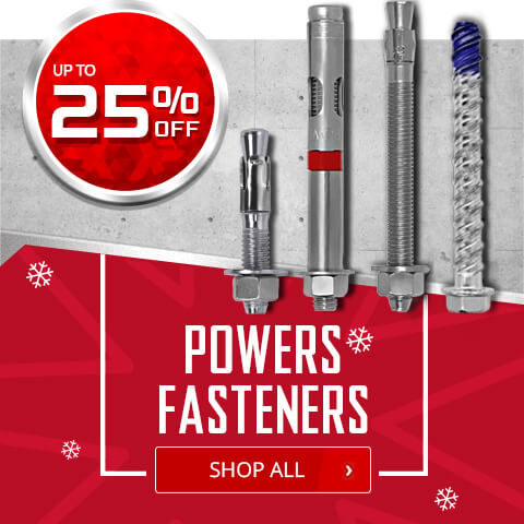 Up to 25% Off on Powers Fasteners