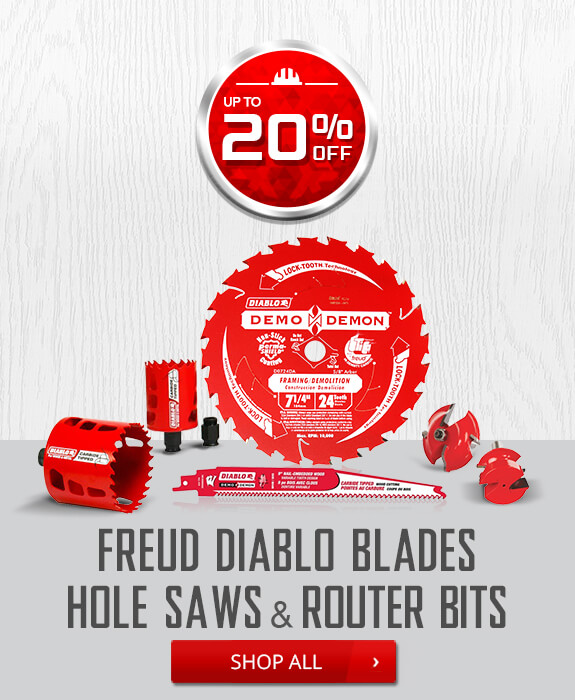 Shop Freud Diablo Blades Hole Saws and Router Bits
