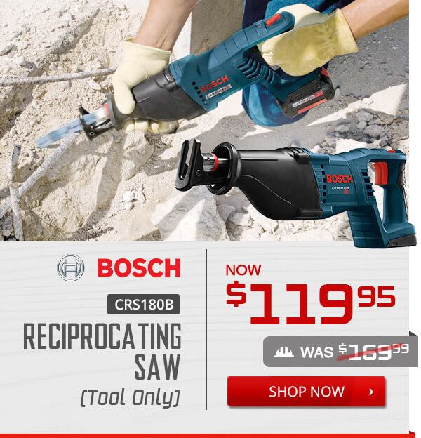 Shop Bosch CRS180B 18-Volt Reciprocating Saw - Tool Only