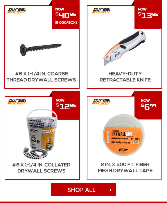 Shop DuraDrive Drywall Tools and Accessories