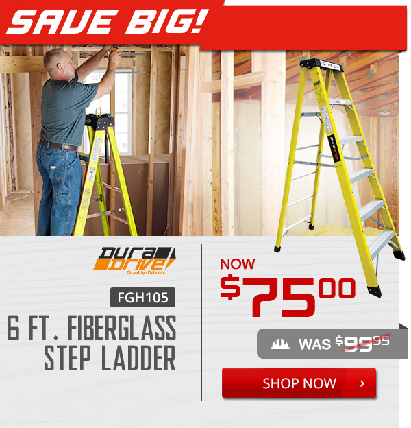Shop DuraDrive FGH105 6 ft. Fiberglass Step Ladder