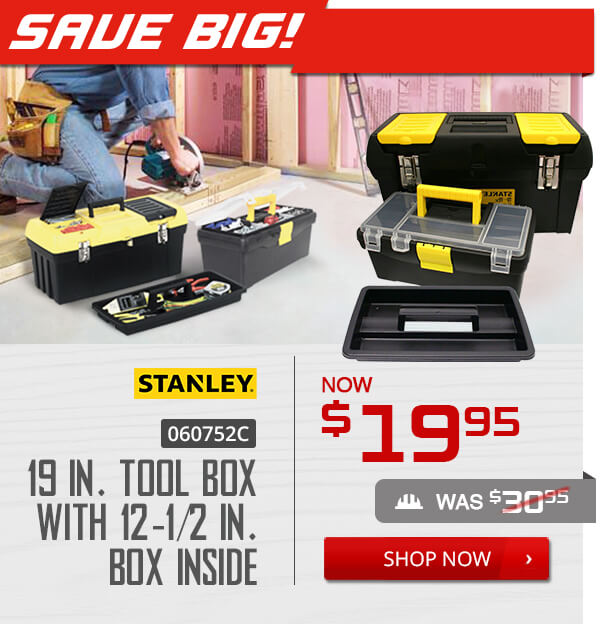Shop Stanley 060752C 19 in. Tool Box with 12-1/2 in. Box Inside