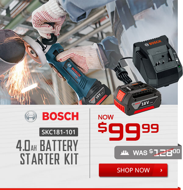 Shop Bosch SKC181-101 4.0Ah Battery Starter Kit