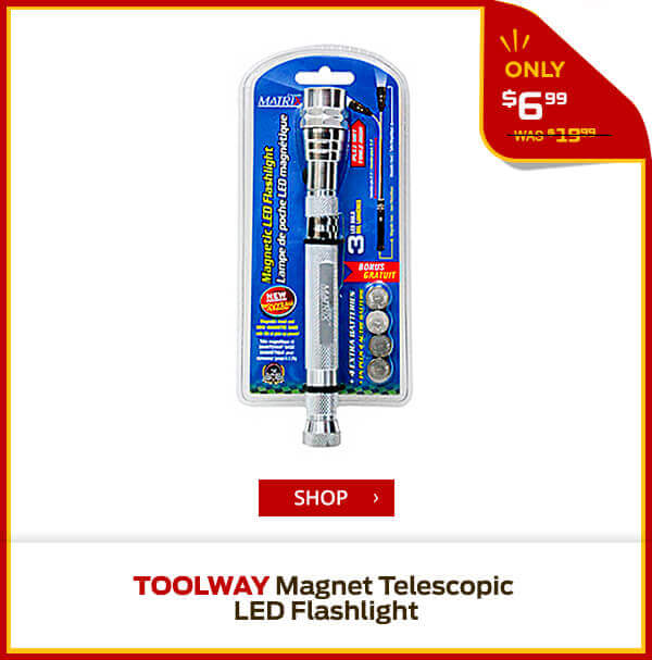 Shop Toolway Magnet Telescopic LED Flashlight