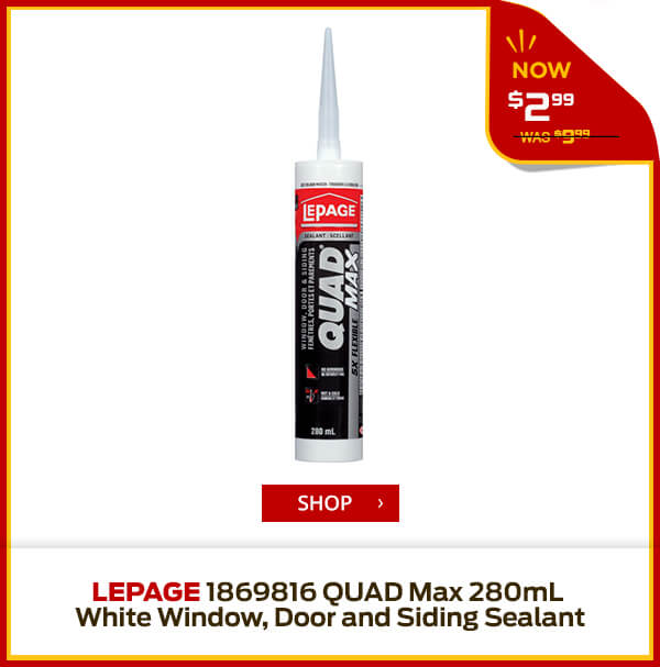 Shop LePage 1869816 QUAD Max 280mL White Window, Door and Siding Sealant