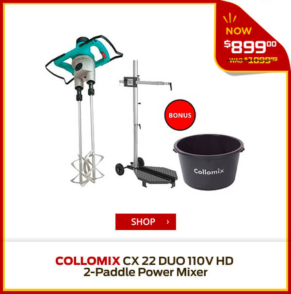 Shop Collomix CX 22 DUO 110V HD 2-Paddle Power Mixer