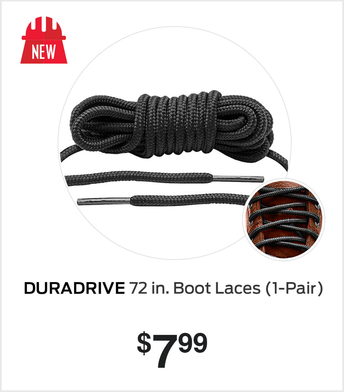 Shop DuraDrive 72 in. Boot Laces (1-Pair)