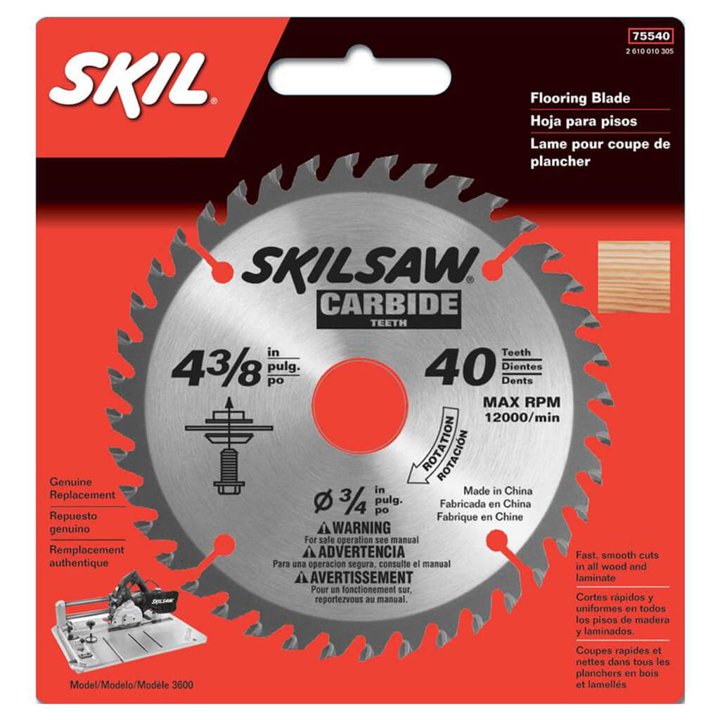 Skil 75540 4 3 8 In X 40 Tooth Carbide Flooring Blade
