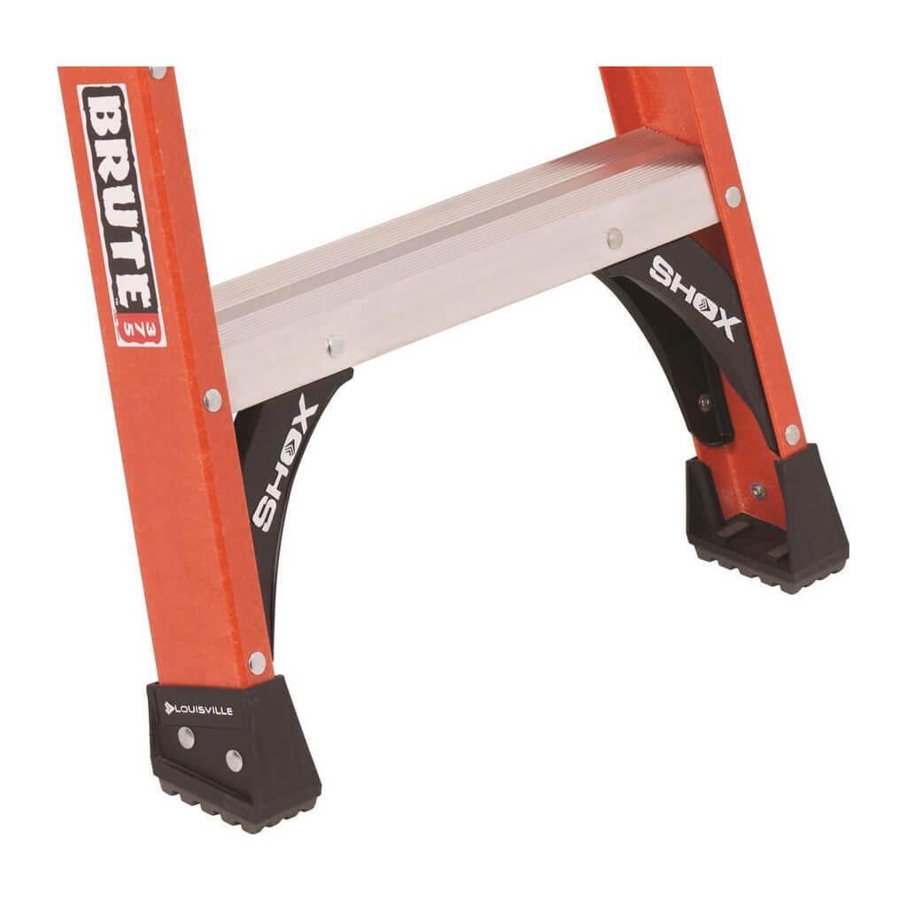 louisville fs1412hd 12 ft heavy duty fiberglass step ladder with 375 lb load capacity type iaa. Black Bedroom Furniture Sets. Home Design Ideas