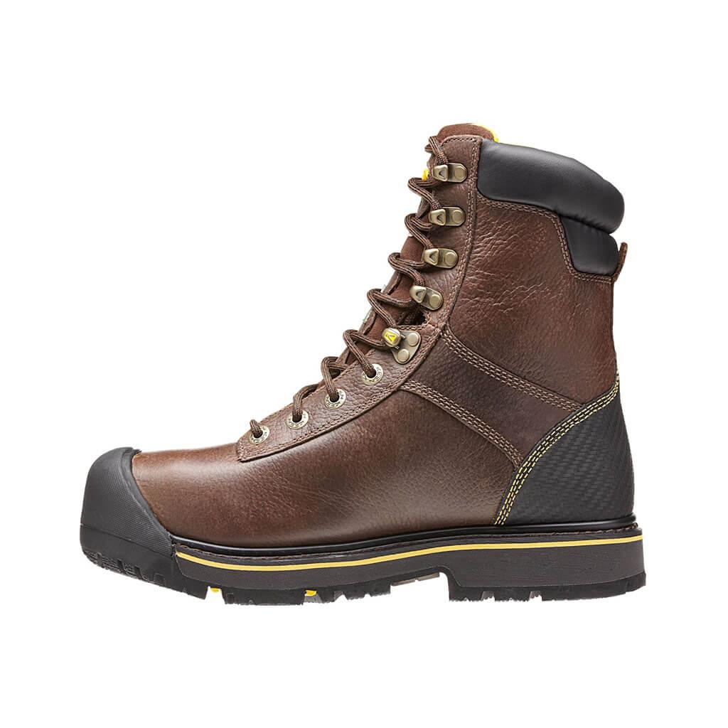 6f4d60ce017 KEEN Men's Abitibi Brown Insulated Waterproof Steel Toe Regular Work ...