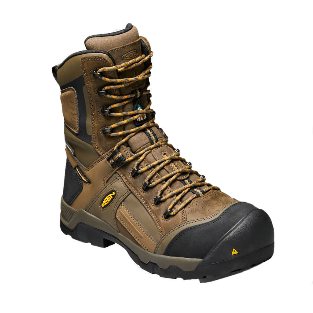 These work shoes, regardless of a soft or steel toe design, look like athletic shoes from the outside, as they are designed like sneakers. Inside, however, have all of the same qualities as an ASTM rated work boot, including being slip resistant and static dissipative or having a steel toe.