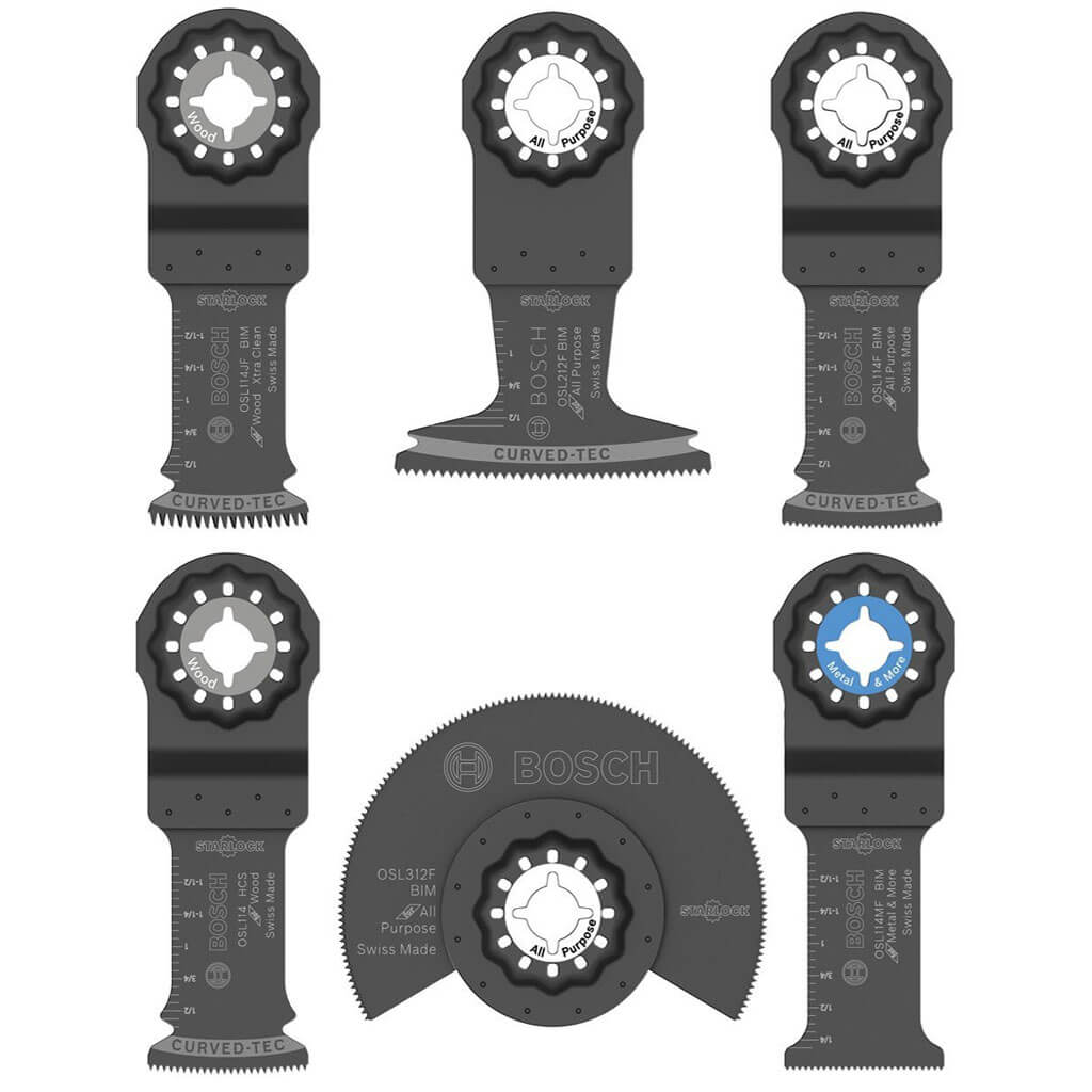 BOSCH OSL006 1-1/4 in. to 3-1/2 in. Assorted STARLOCK Cut Oscillating Multi-Tool Saw Blade Set (6-Piece)