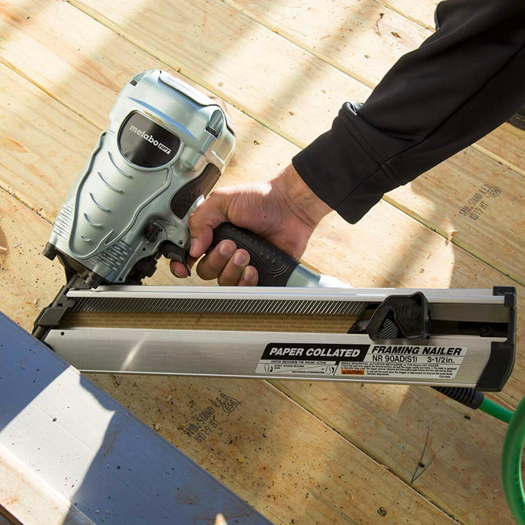 Metabo HPT NR90ADS1 2 In. to 3-1/2 in. Paper Collated Framing Nailer