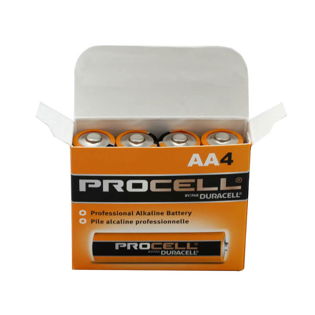 Duracell PC1500 Procell 1.5-Volt Alkaline Button Top AA