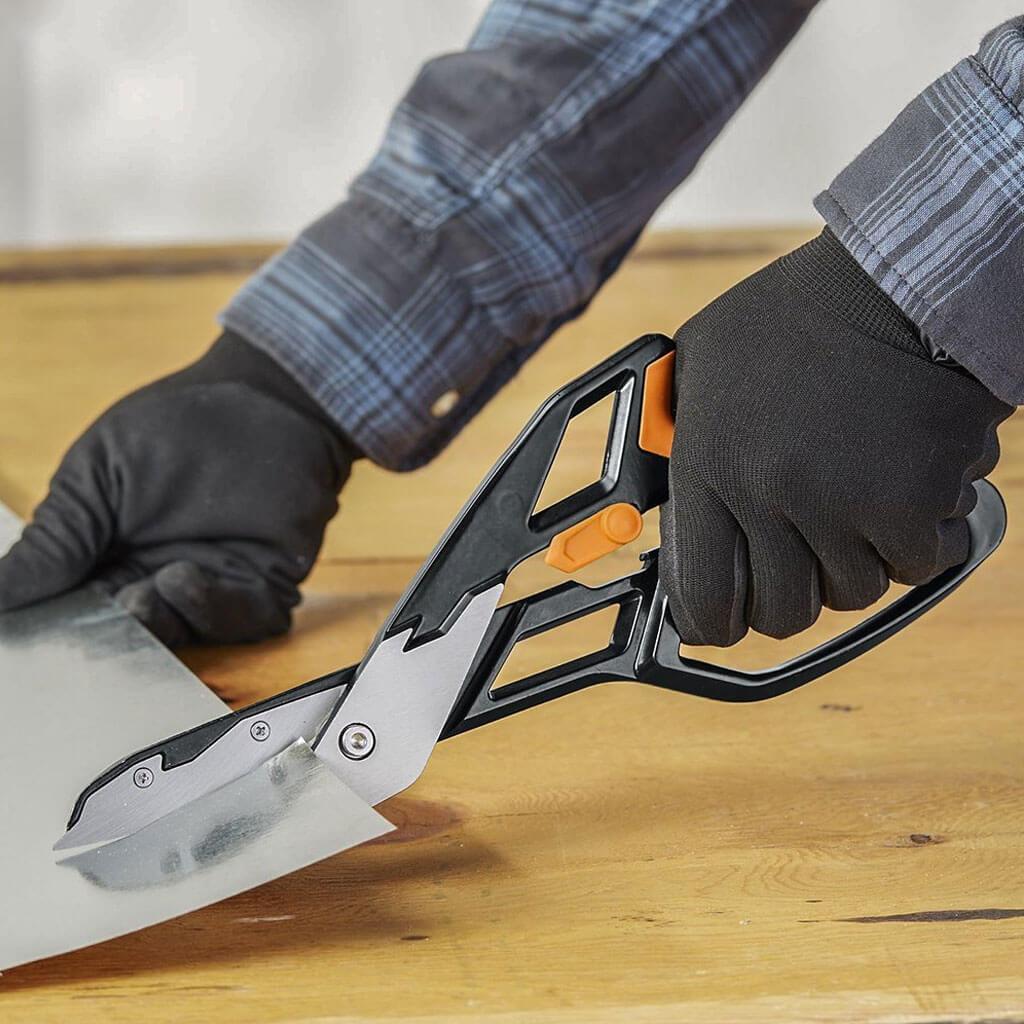 Fiskars 13 In Powerarc Easy Action Aluminum Tin Snips