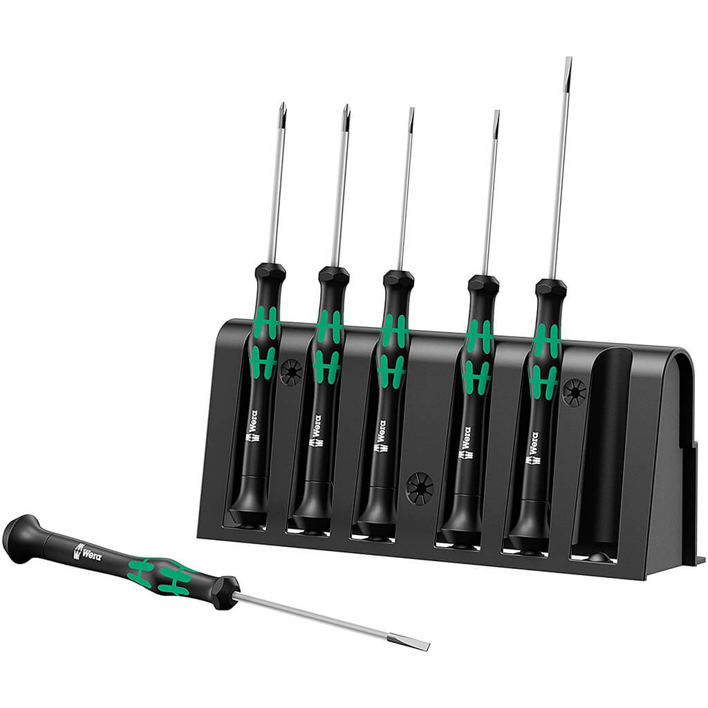 Wera 05118150001 2035/6 Kraftform Micro Electronic Applications Slot/Phillips Screwdriver Set (6-Piece)