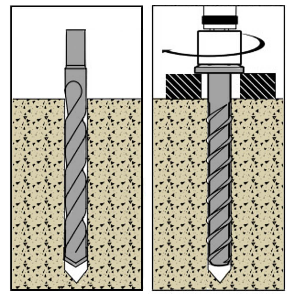 """Qty 20 3//4/"""" x 5/"""" DeWalt Powers PFM1411760 Screw Bolt Concrete Screw Anchor"""