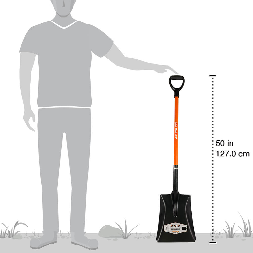 DuraDrive 51 in. Fiberglass D-Handle Square Mouth Shovel