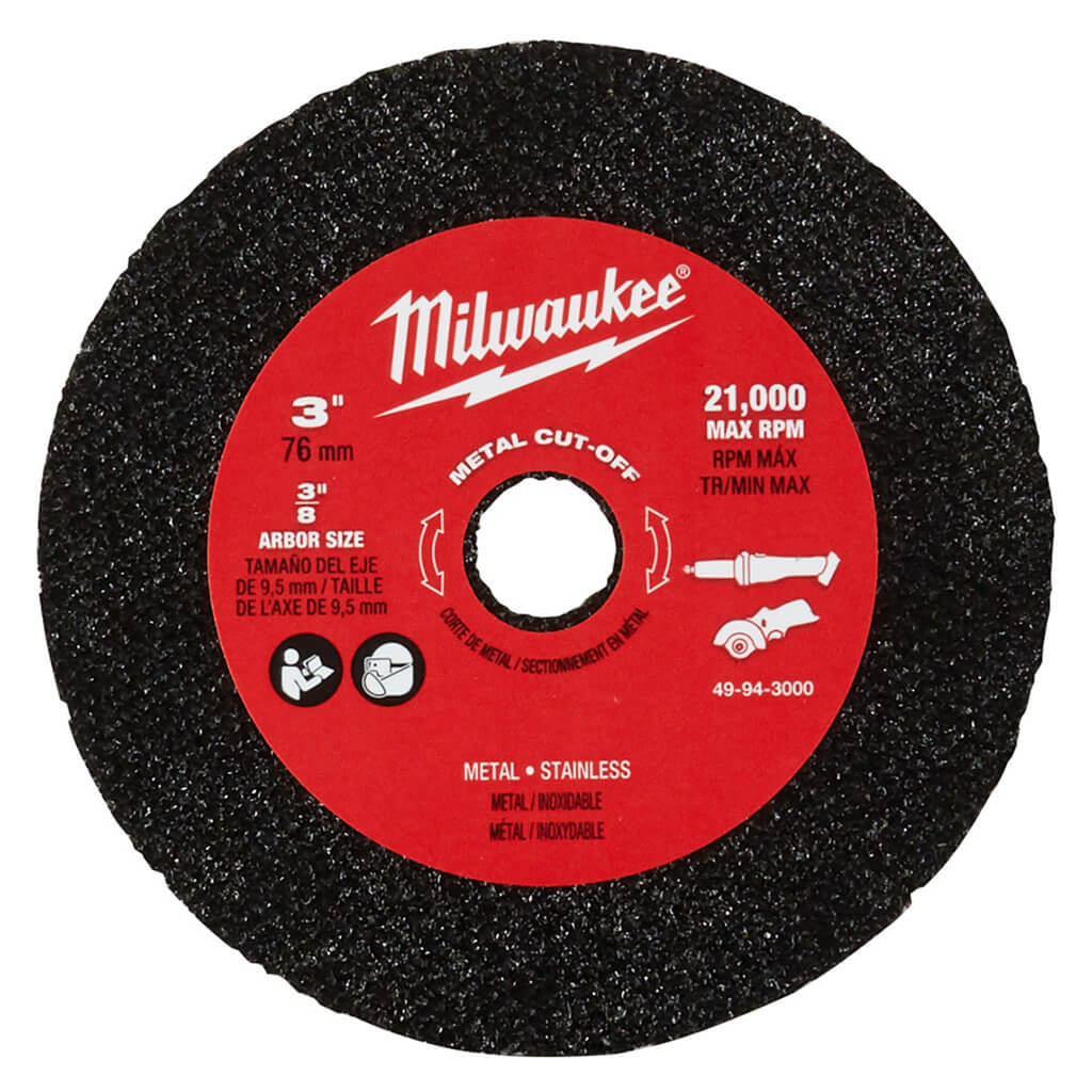 Milwaukee 49-94-3000 3 in. Metal Cut Off Wheel (3-Pack)