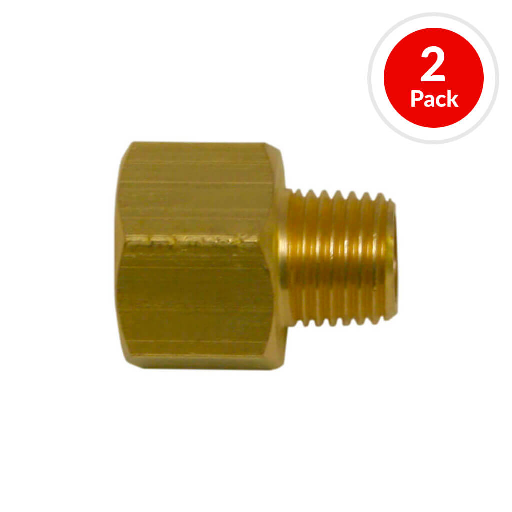 DuraDrive P6122 3/8 in. Female x 1/4 in. Male Brass Coupler Air Hose Fitting (2-Pack)