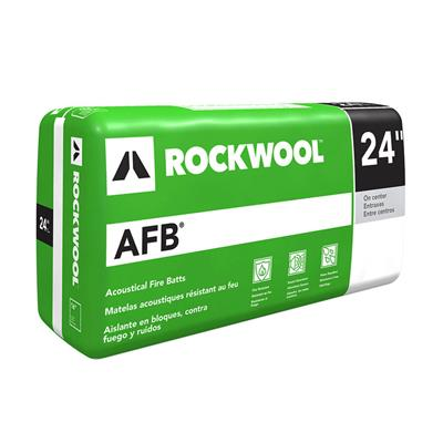 Rockwool afb 3 in x 24 in x 48 in acoustical fire batt for What is roxul insulation