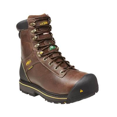 880bc12ee4c KEEN Men's Abitibi Brown Insulated Waterproof Steel Toe Regular Work Boots