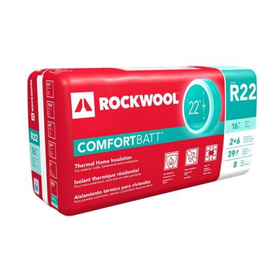 Rockwool Comfortbatt R22 5 5 In X 15 25 In X 47 In Wood