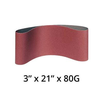 KLINGSPOR 4140 LS 309 XH 3 in. x 21 in. x 80 Grit Sanding Belt For Hand Held Machines For Wood, Metal And NF Metals (10-Pack)