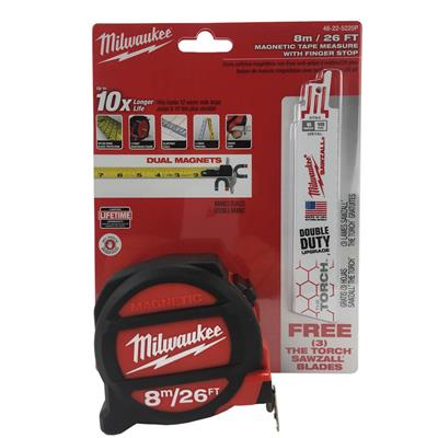 Milwaukee 48 22 5225p 8m 26 Ft Magnetic Tape Measure With