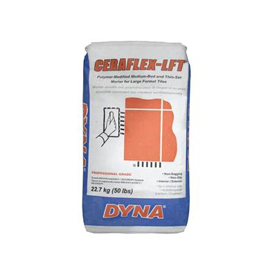 dyna 611g50 22 7 kg grey ceraflex lft polymer modified medium set thin set mortar for interior exterior large format stone and tile