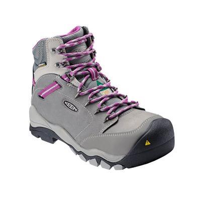 72f5218de1a KEEN Women's 6 in. CSA Canby Grey Purple Waterproof Aluminum Toe Regular  Work Boots