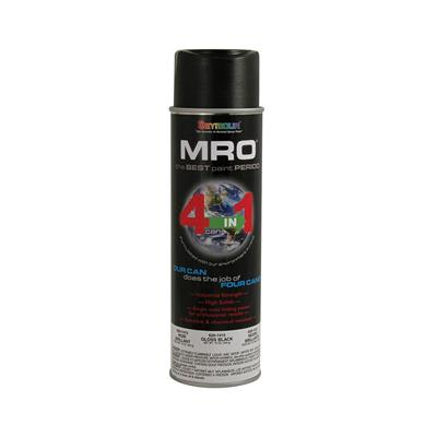Seymour 620-1415 16 oz. Gloss Black MRO Enamel High Solids Spray Paint