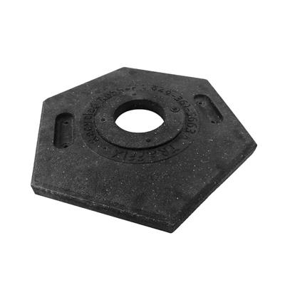 Traffix Devices 42010-CRU 10 lb. Recycled Rubber Hexagonal Traffic Delineator Rubber Base