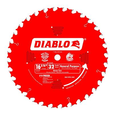 Freud Diablo D1632X 16-5/16 in. 32-Tooth High Density Carbide General Purpose Wood Cutting Saw Blade